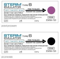 Test paskowy STERIM Emulator klasy 6, 134/7 121/20